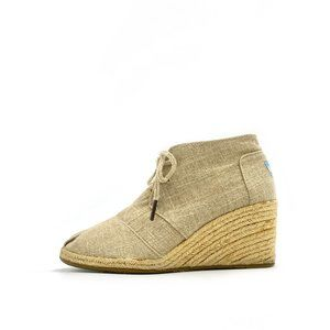 TOMS Desert Wedge Lace Up Espadrille #917